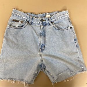 Calvin Klein Jeans Distressed Long Shorts